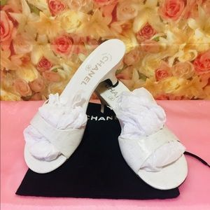 Authentic Chanel CC slides